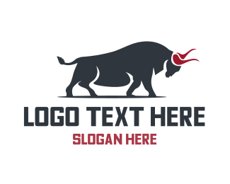 Butcher - Wild Bull logo design