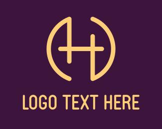 Designer - Letter H Circle logo design