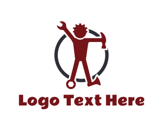 Labour - Tool Man logo design