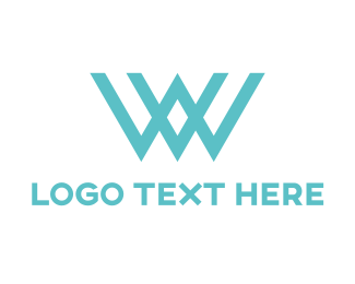 Wix - Blue W  logo design