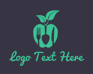 Dietician - Vegan Food logo design