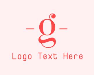 Typeface - Feminine Letter G logo design