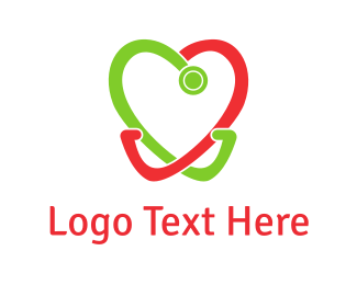 Dentist - Heart Stethoscope logo design