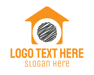 Psychology - Orange House  logo design