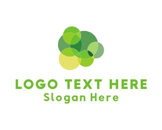 Chewing Gum - Green Circles logo design