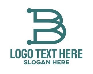 Perfume - Vintage B Outline logo design