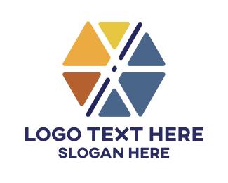 Hexagon - Triangle & Hexagon logo design