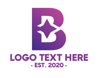 Bollywood - Violet Gradient B logo design