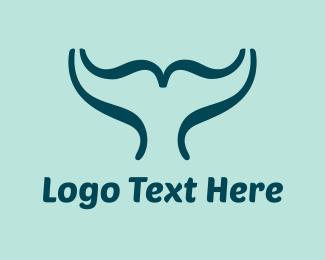 Brackets - Whale Script logo design