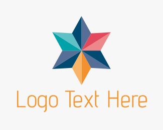 Collaboration - Colorful Geometric Star logo design