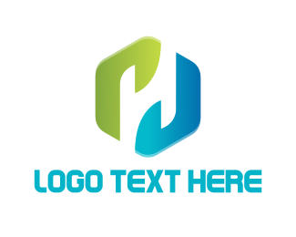 Hexagon - Hexagonal Letter H logo design