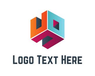 Room - Cube Room logo design