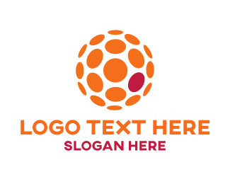 Orange And Pink - Orange Ball logo design