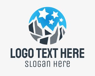 Hike - Mount & Stars logo design