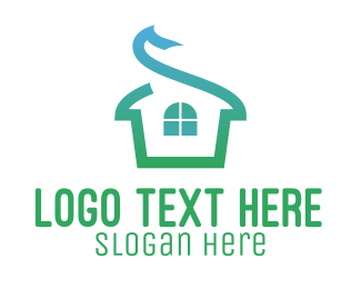 House - Ribbon House logo design