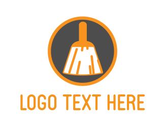 Tradesman - Brush Circle logo design