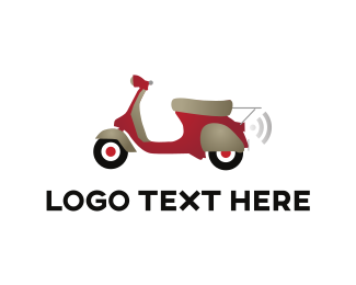 Bike - Red Scooter logo design