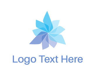 Massage - Propeller Flower logo design