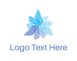 Propeller - Propeller Flower logo design