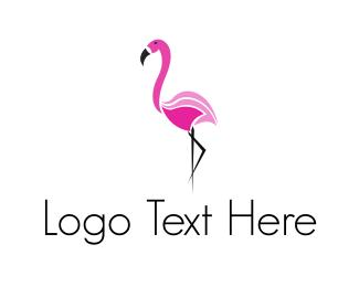 Pink - Pink Flamingo logo design
