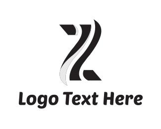Stripes - Letter z logo design