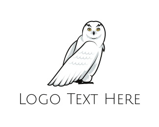 Wise - Snowy Owl logo design