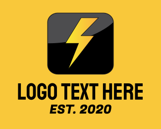 Electrician - Thunderbolt Icon logo design