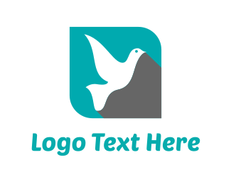 Giving - Flying Dove logo design