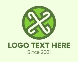 Retail - Green X  logo design