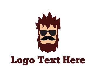Barber - Hipster Man logo design