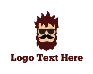 Dress Up - Hipster Man logo design
