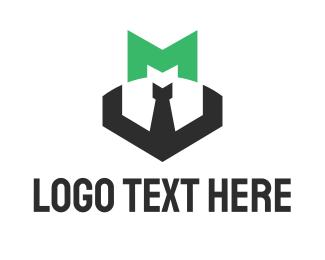 Elegant - Green Letter M logo design