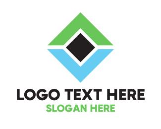 Management - Green & Blue Diamond logo design