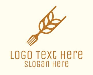 Rice - Rice Grain Fork logo design