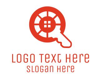 Locksmith - Home Finder Key logo design
