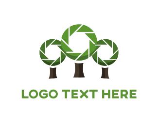 Park - Camera Trees logo design