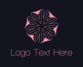 Female - Pink Flower logo design