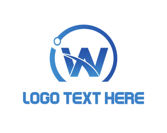 Woocommerce - Blue Letter W logo design