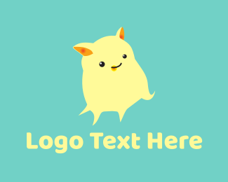 Monster - Cute Yellow Monster logo design
