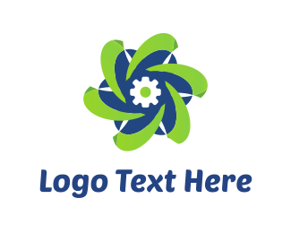Screw - Tech Flower logo design