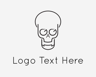 Letter A - Abstract Skull logo design