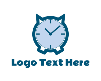 Hour - Cat Clock logo design