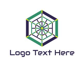 Spider - Modern Spiderweb logo design