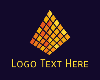 Database - Golden Pyramid logo design