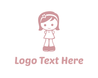 Adorable - Little Girl logo design