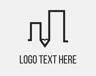 Sketch - Pencil Building logo design