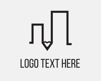 Pencil Building Logo