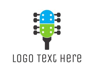 Instrument - Capsule Guitar logo design