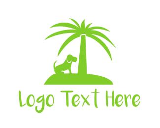 Palm - Dog Island logo design
