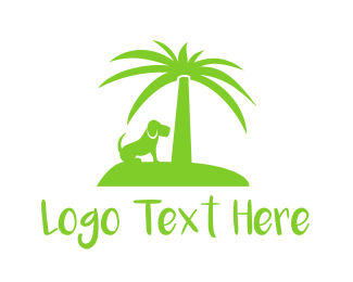 Palm - Dog Island logo design
